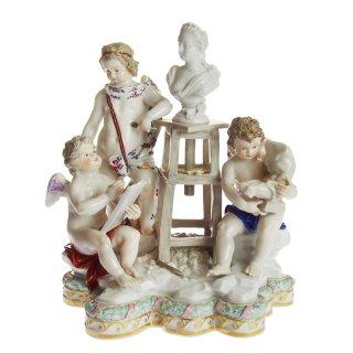 アンティーク<br>マイセン (Meissen)<br>フィギュリン アトリエのエンジェル<br>1800年頃<br>【店頭併売品のため完売の場合がございます】