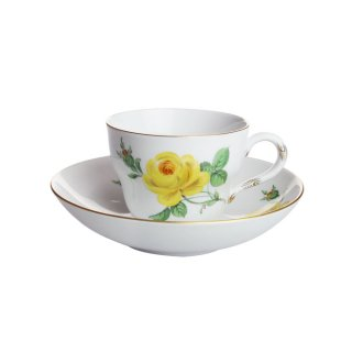 マイセン (Meissen) イエローローズ コーヒーカップ&ソーサー 55891(エスプレッソ用)