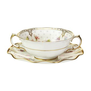 【Autumn*Sale】ロイヤルクラウンダービー ロイヤルアントワネット スープカップ&ソーサー