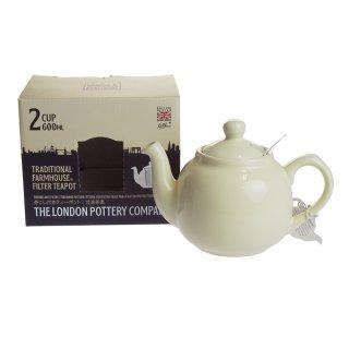ロンドンポタリー (London Pottery) ファームハウス ティーポット アイボリー 2cup