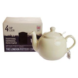 ロンドンポタリー (London Pottery) ファームハウス ティーポット アイボリー 4cup