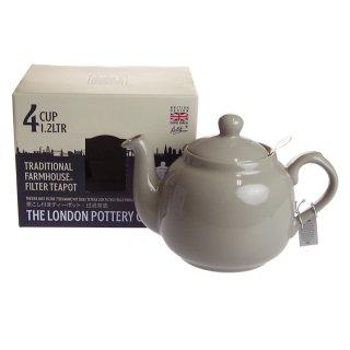 ロンドンポタリー (London Pottery) ファームハウス ティーポット グレー 4cup