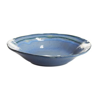 カサフィナ (Casafina) サウサリート ブルー パスタプレート 24cm