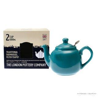 ロンドンポタリー (London Pottery) ファームハウス ティーポット アクア 2cup