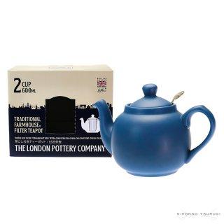 ロンドンポタリー (London Pottery) ファームハウス ティーポット ノルディックブルー 2cup