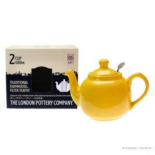 ロンドンポタリー (London Pottery) ファームハウス ティーポット ニュー イエロー 2cup