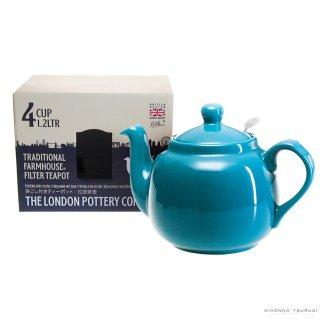 ロンドンポタリー (London Pottery) ファームハウス ティーポット アクア 4cup