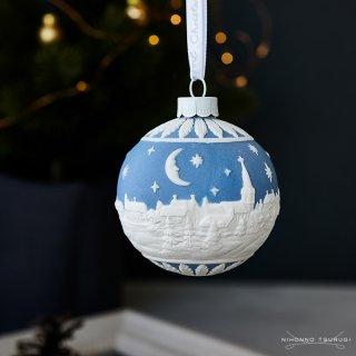 ウェッジウッド (WEDGWOOD) ホリデイ オーナメント クリスマスの夜空 ブルー 1051918