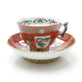 ヘレンド (HEREND) シノワズリ G ゲデレ モカコーヒーカップ&ソーサー マンダリン 3371