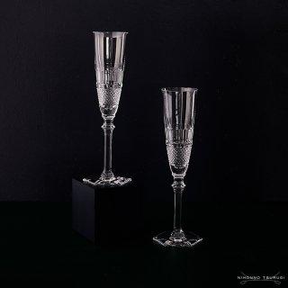 バカラ (Baccarat) ディアマン シャンパンフルート 24.5cm ペア 2-807-400