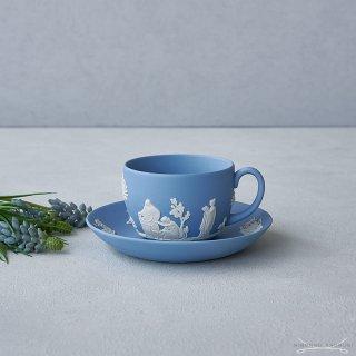 【Autumn*Sale】ウェッジウッド (WEDGWOOD) ジャスパー ペールブルー ティーカップ&ソーサー