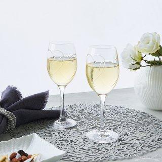 ウェッジウッド (WEDGWOOD) クリスタル プロミシス トゥーハーツ ワイングラス ペア
