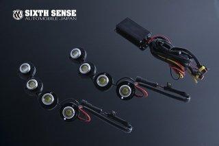 汎用LEDデイライト フリーレイアウト 1W4連