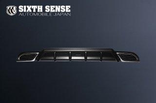 80ノア G/Xグレード リアアンダーガーニッシュ(マフラーリング付き)ABS ブラックカーボン調
