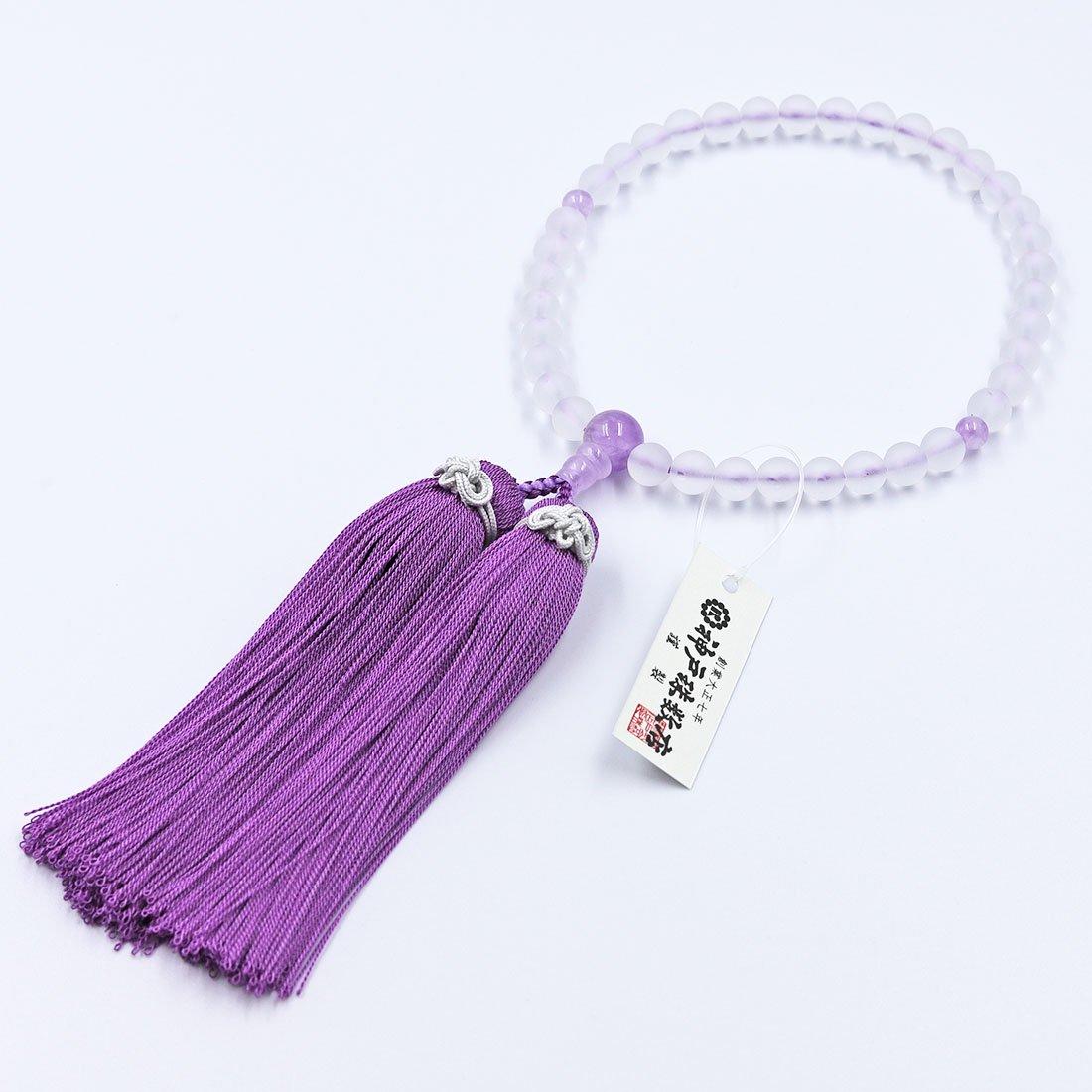結 nenju 朝霧水晶・紫雲石仕立