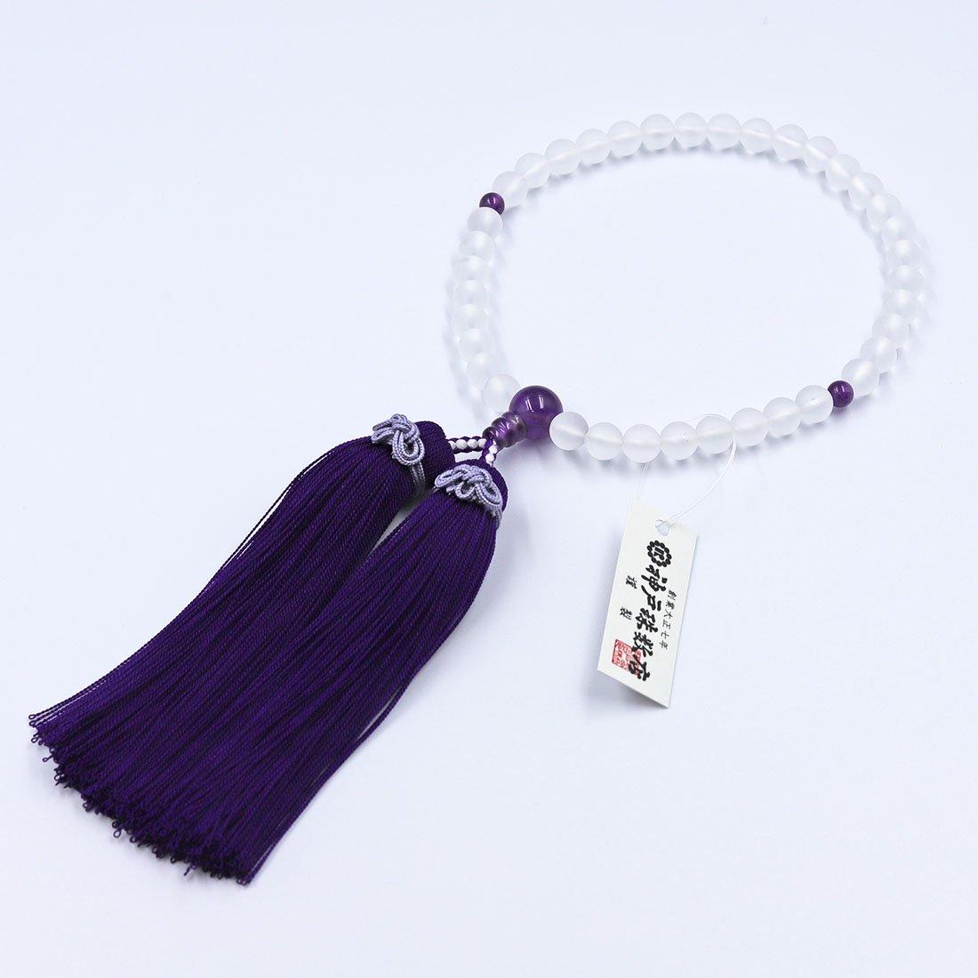 結 nenju 朝霧水晶・紫水晶仕立