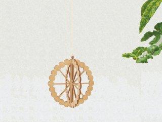Kito 木製オーナメント  サンフラワー(リトアニア製)