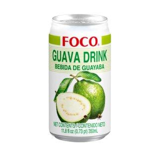 FOCO グアバジュース 350ml缶 ケース販売(24本入)