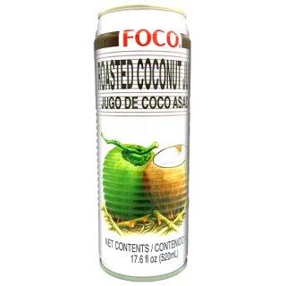 FOCO ローストココナッツジュース 520ml缶 ケース販売(24本入)