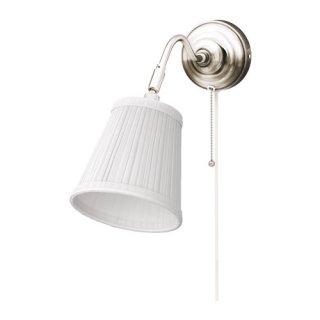 IKEA イケア ウォールランプ ニッケルメッキ ホワイト 00163879 ARSTID