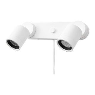 IKEA イケア ウォールランプ ダブル ホワイト n40428651 NYMANE