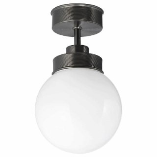 IKEA イケア シーリングランプ ブラック 直径15 n30431654 FRIHULT