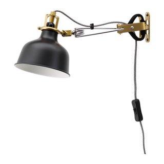 IKEA イケア ウォール クリップ式 スポットライト ブラック 20331400 RANARP