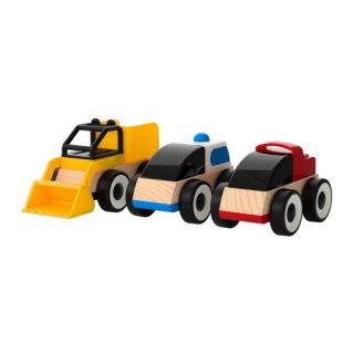 IKEA イケア おもちゃ のりもの 3 ピース アソートカラーa50185831 LILLABO