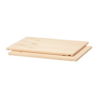 IKEA イケア 棚板 パイン材 / 2 ピース ライトホワイトステイン c40308700 TROFAST