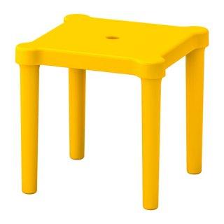 IKEA イケア 子供用スツール 室内/屋外用 イエロー z90357774 UTTER
