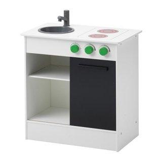 IKEA イケア おままごとキッチン 引き戸付き ホワイト n50306022 NYBAKAD