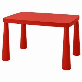 IKEA イケア 子ども用テーブル 室内 屋外用 レッド n80365166 MAMMUT