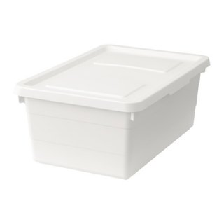 IKEA イケア ふた付きボックス ホワイト b50316064 SOCKERBIT
