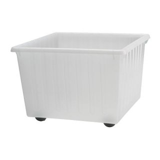 IKEA イケア 収納クレート キャスター付 ホワイト39x39cm c70104462 VESSLA