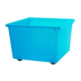 IKEA イケア 収納クレート キャスター付 ブルー 39x39cm c50104463 VESSLA