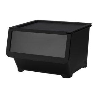 IKEA イケア ふた付きボックス ブラック d90339935 FIRRA