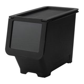 IKEA イケア ふた付きボックス ブラック d70339936 FIRRA