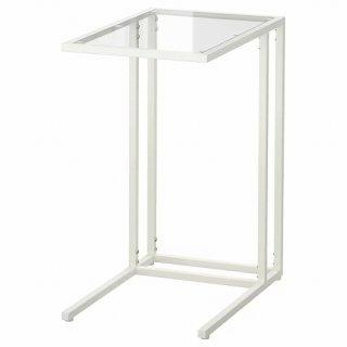 IKEA イケア VITTSJO ラップトップスタンド デスク ガラス ホワイト a70303447