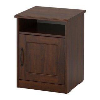 IKEA イケア SONGESAND ソンゲサンド ベッドサイドテーブル ブラウン 42x40 cm z90367443