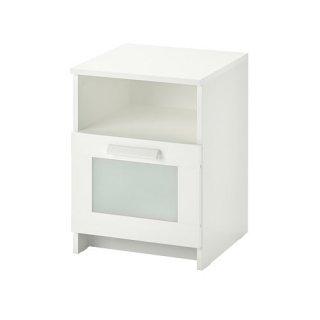 IKEA イケア BRIMNES ブリムネス ベッドサイドテーブル ホワイト39x41cm z00354063