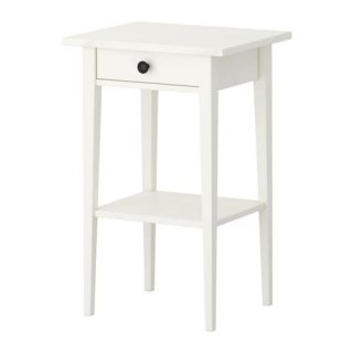 IKEA イケア HEMNES ヘムネス ベッドサイドテーブル ホワイトステイン 46x35cm z10354091
