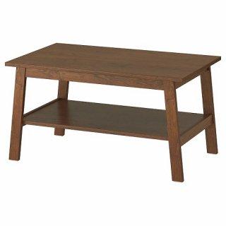 IKEA イケア コーヒーテーブル 90x55cm ブラウン z00399028 LUNNARP