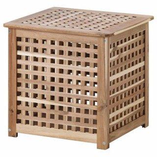 IKEA イケア HOL ホール サイドテーブル アカシア材 z90353021
