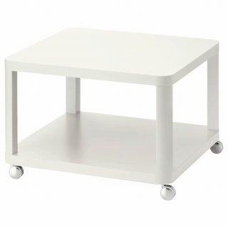 IKEA イケア TINGBY ティングビー サイドテーブル キャスター付き ホワイト 64x64cm z40295929