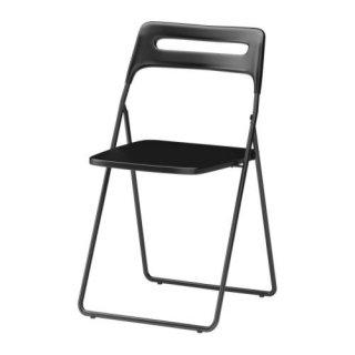 IKEA イケア NISSE 折りたたみチェア ブラック c30162208