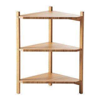 IKEA イケア RAGRUND 洗面台用シェルフ/コーナーシェルフ 竹 a20253077