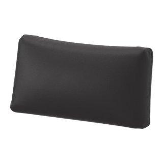 IKEA イケア 背もたれクッション ムールム ブラック 40x75cm z30329468 VALLENTUNA