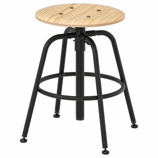 IKEA イケア KULLABERGスツール パイン材 ブラック z90363652