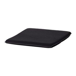 IKEA イケア フットスツールクッション クニーサ ブラック 黒 z00395153 【クッションのみ】POANG