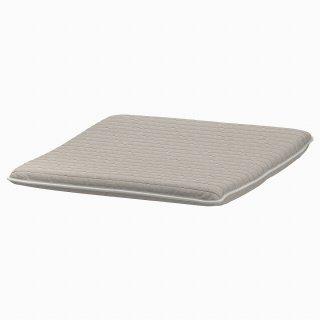 IKEA イケア フットスツールクッション クニーサ ライトベージュ z90395158 【クッションのみ】POANG